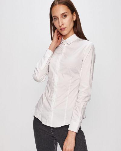 Блузка с длинным рукавом однотонная белая Trussardi Jeans