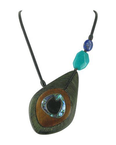Ожерелье черное фиолетовый Nature Bijoux