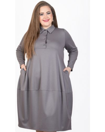 Платье макси длинное - серое Avigal (avrora)