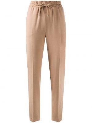 Прямые укороченные брюки с поясом из вискозы на шнурках Blumarine