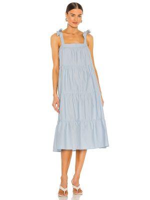 Синее текстильное платье рубашка Nation Ltd