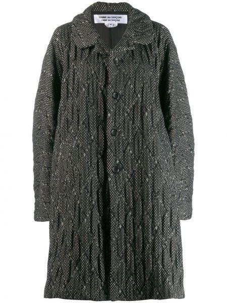 Шерстяное черное пальто оверсайз Comme Des Garçons Comme Des Garçons