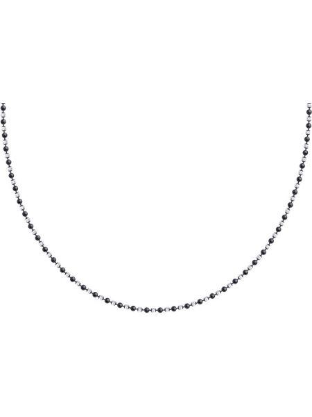 Черная цепочка из серебра с декоративной отделкой Sokolov