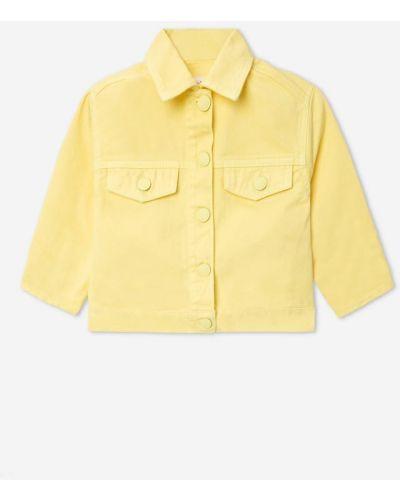 Джинсовая куртка оверсайз - желтая Gloria Jeans