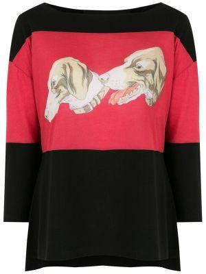 Блузка с вырезом - черная Gloria Coelho