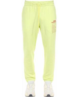 Żółte joggery bawełniane Mafia Szn