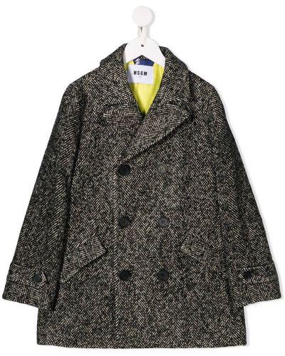 Черное пальто Msgm Kids