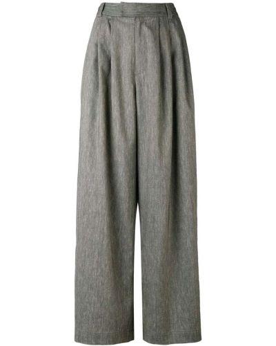 Льняные брюки со складками Pas De Calais