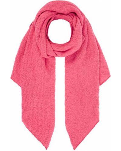 Różowa szal wełniana asymetryczna Kurt Beines