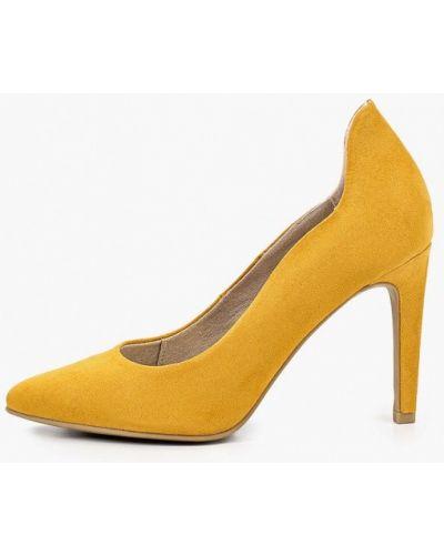 Текстильные желтые туфли-лодочки Marco Tozzi