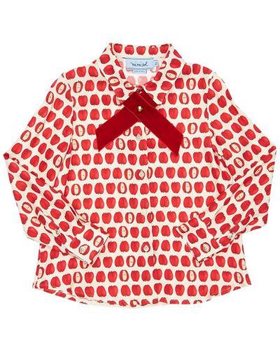 Белая классическая рубашка с воротником из вискозы Mi.mi.sol.