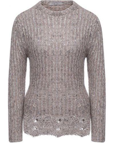 Шерстяной пуловер - серый D.exterior