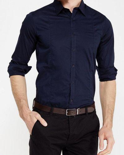 Рубашка с длинным рукавом итальянский синий Gianni Lupo