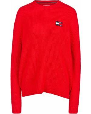 Джемпер красный оверсайз Tommy Jeans
