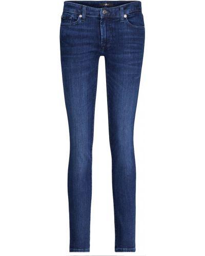 Ватные хлопковые синие джинсы 7 For All Mankind