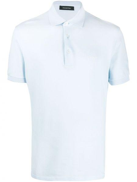 Koszula krótkie z krótkim rękawem klasyczna z logo Ermenegildo Zegna