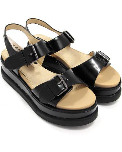 Кожаные сандалии - черные Mtng