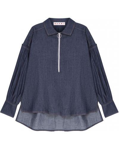 Блузка с пышными рукавами с широкими манжетами Marni