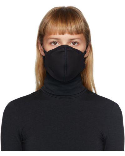 С ремешком черная маска для лица с тиснением Wolford