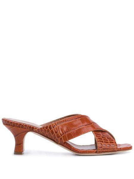Мюли кожаные из крокодила Paris Texas
