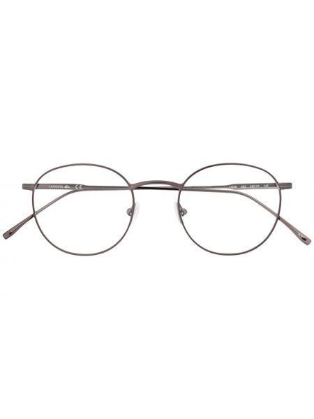 Prosto czarny oprawka do okularów metal okrągły Lacoste