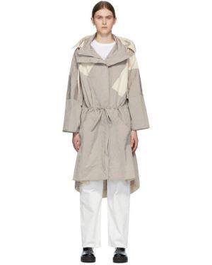 Пальто с капюшоном длинное оверсайз Moncler Genius