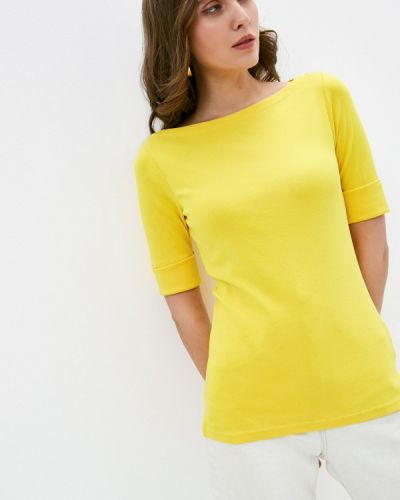 Желтая футболка с короткими рукавами Lauren Ralph Lauren