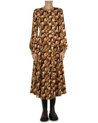 Brązowa sukienka Maliparmi