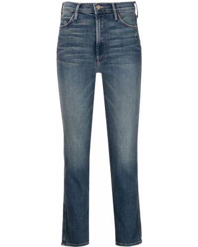 Укороченные синие джинсовые прямые джинсы Mother