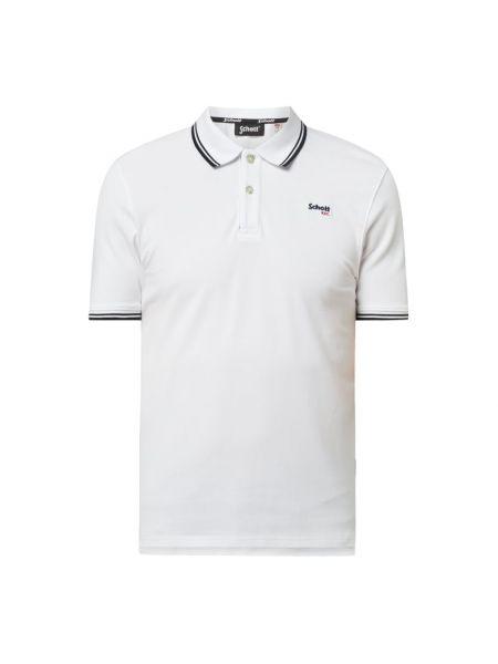 T-shirt bawełniana - biała Schott Nyc