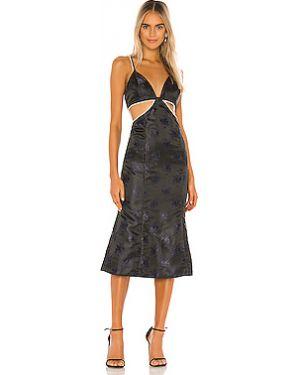 Платье миди на молнии шелковое Song Of Style