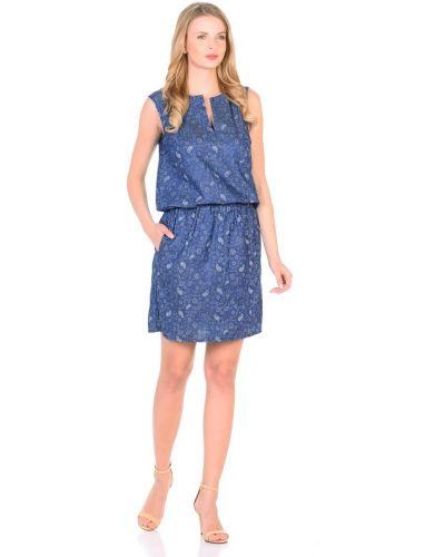 Модное платье с поясом без рукавов Rosa Blanco