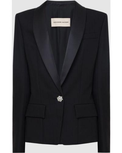 Шерстяной черный пиджак Alexandre Vauthier