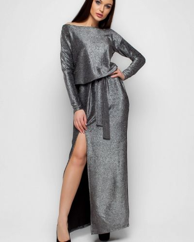 Платье весеннее серебряного цвета Karree