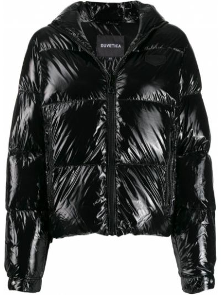 Черная длинная куртка Duvetica