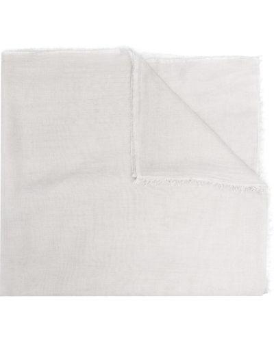 Серый шелковый шарф прямоугольный Faliero Sarti