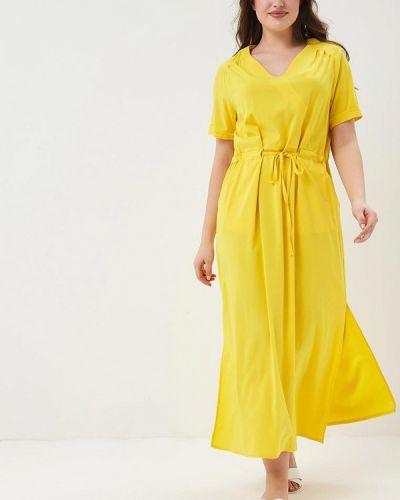 Платье весеннее желтый Lina
