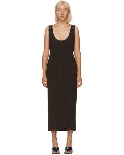 Асимметричное платье с воротником без рукавов с карманами Situationist