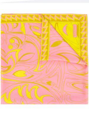Розовый шелковый платок Emilio Pucci