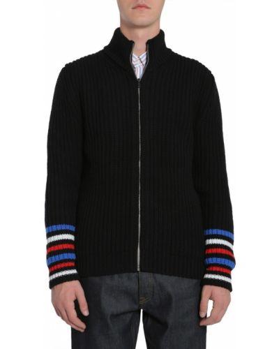 Czarny długi sweter oversize moherowy Tommy Hilfiger
