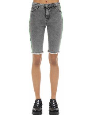 Хлопковые джинсовые шорты с карманами с манжетами Represent