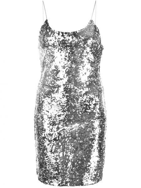 Приталенное тонкое платье мини с пайетками на бретелях Alice+olivia