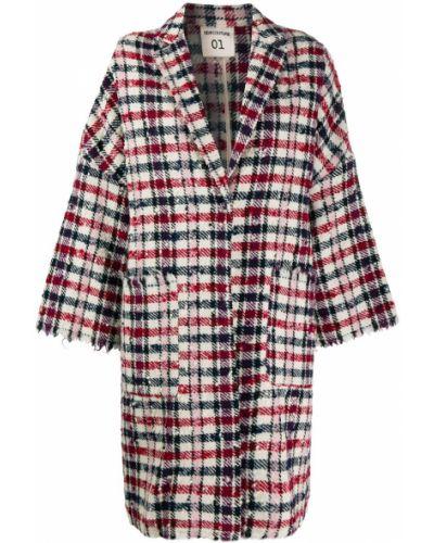 Длинное пальто с капюшоном на пуговицах Semicouture