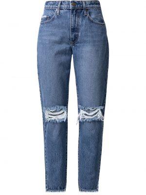 Синие хлопковые джинсы на молнии Nobody Denim