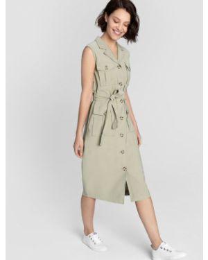 Платье с поясом на пуговицах сафари Ostin