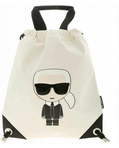 Biały plecak Karl Lagerfeld
