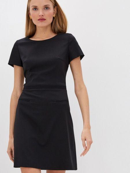 Черное повседневное платье Hugo