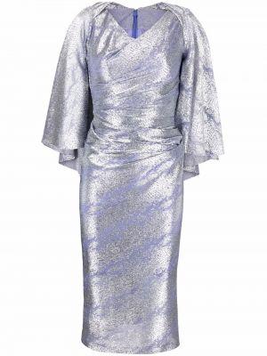 Зауженное платье миди - фиолетовое Talbot Runhof