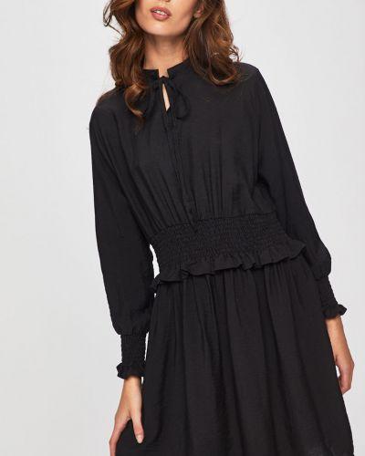 Платье с поясом на резинке однотонное Answear