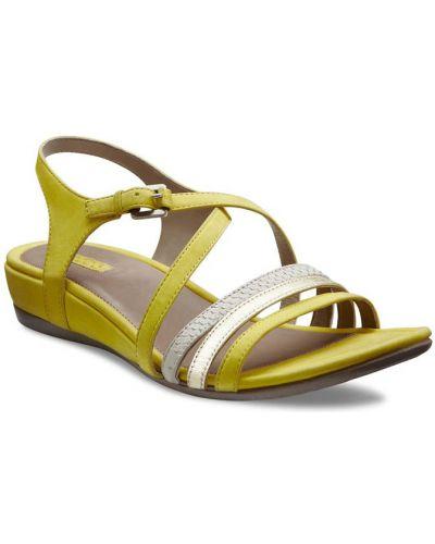 Босоножки желтый на каблуке Ecco